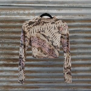 Multi - Colored Snake Print Top.